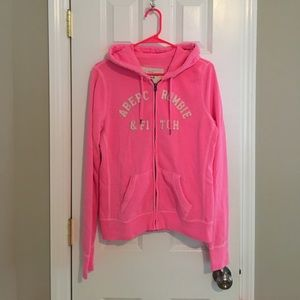 Hot Pink Abercrombie & Fitch hoodie